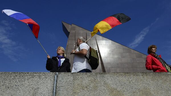 Drapeaux russe et allemand - Sputnik France