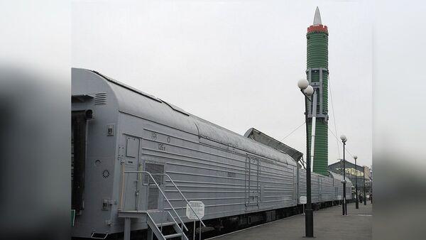 БЖРК в экспозиции музея Октябрьской железной дороги на бывшем Варшавском вокзале в Санкт-Петербурге - Sputnik France