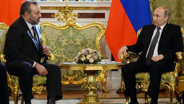 Le roi Mohammed VI et le Président russe Vladimir Poutine - Sputnik France