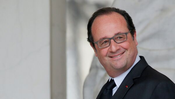 French President Francois Hollande is seen at the Elysee Palace following the weekly cabinet meeting in Paris, France, May 11, 2016. - Sputnik France