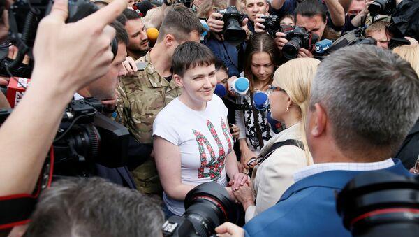 Nadejda Savtchenko de retour à Kiev - Sputnik France