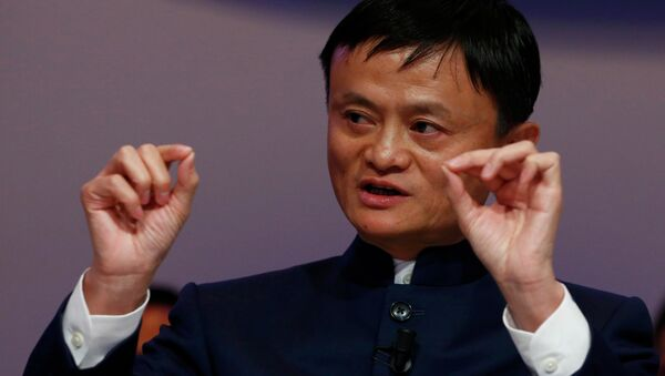 Jack Ma, Founder and Executive Chairman of Alibaba Group, speaks during the session 'An Insight, An Idea with Jack Ma' in the Swiss mountain resort of Davos January 23, 2015 - Sputnik France