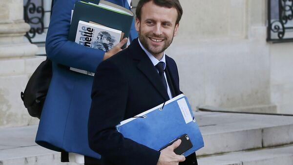 Emmanuel Macron, ex-ministre français de l'Economie - Sputnik France