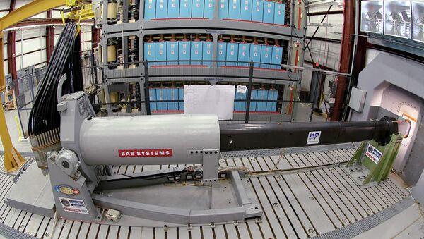 Naval Research-funded electromagnetic railgun - Sputnik France