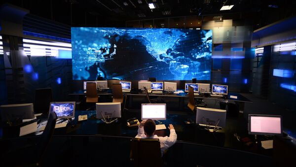 Salle de rédaction de la chaîne TV russe Vesti - Sputnik France
