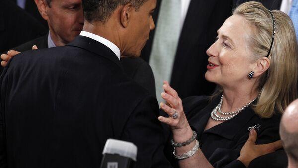 Barack Obama et Hillary Clinton - Sputnik France