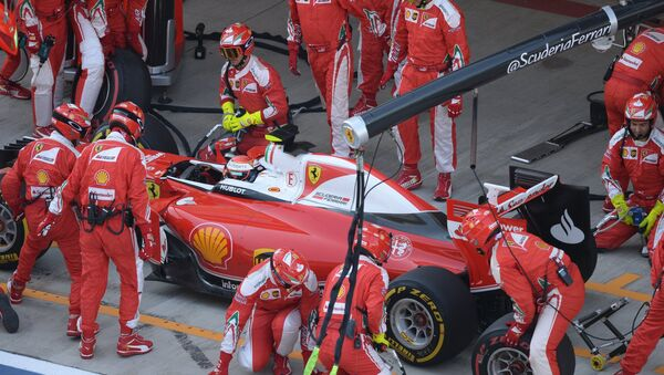Le pilote de Ferrari, Kimi Raikkonen, pendant un GP de Russie de Formule 1 - Sputnik France