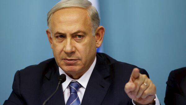Israel's Prime Minister Benjamin Netanyahu gestures as he speaks during a news conference in Jerusalem October 8, 2015. - Sputnik France