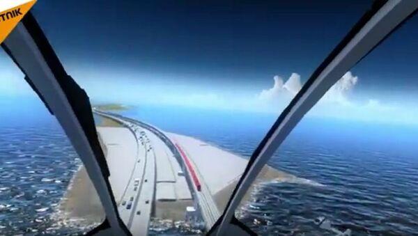 Le pont de Crimée vu du ciel - Sputnik France