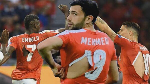 Les footballeurs suisses en maillots déchirés - Sputnik France