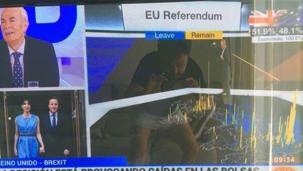 Le politicien espagnol Asier Antona Gomez choqué par le Brexit en oublie les bonnes manières… - Sputnik France