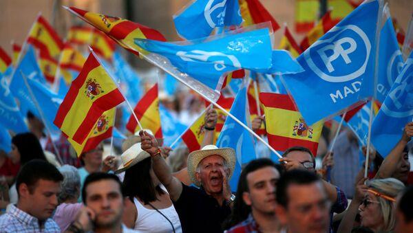 Les partisans du Parti populaire espagnol - Sputnik France