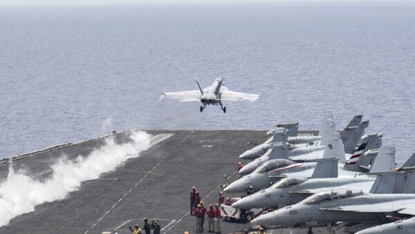 U.S. Navy F/A-18E Super Hornet fighter jet - Sputnik France