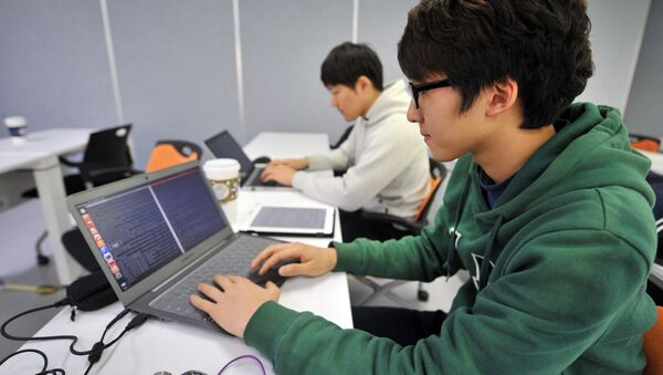 Chang-Won This photo taken on February 14, 2013 shows young computer experts studying at an internet security training centre of the state-run Korea Information Technology Research Institute (KITRI) in Seoul - Sputnik France