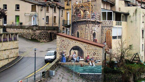 La fresque porte d'Aurec  dans son contexte urbain - Sputnik France