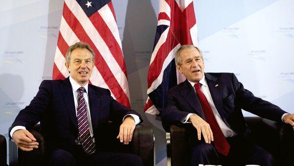 George W. Bush et Tony Blair - Sputnik France