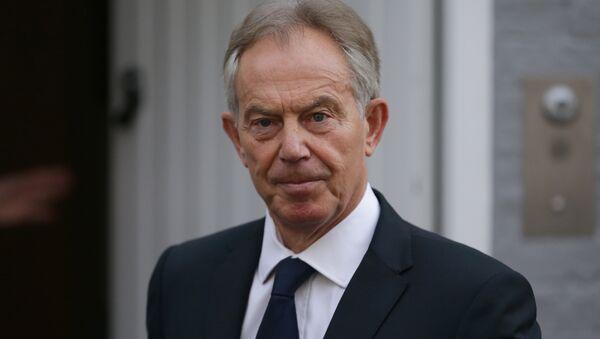 Former British Prime Minister Tony Blair leaves his home in London on July 6, 2016 - Sputnik France