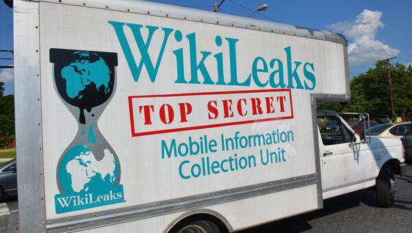 Un camion Wikileaks - Sputnik France