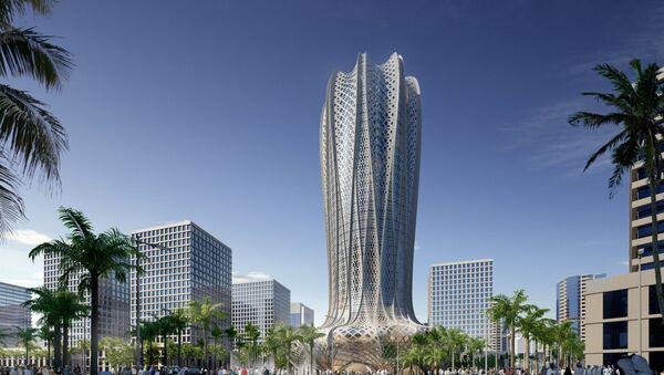A computer generated image shows one of two project's designed by Zaha Hadid - Sputnik France