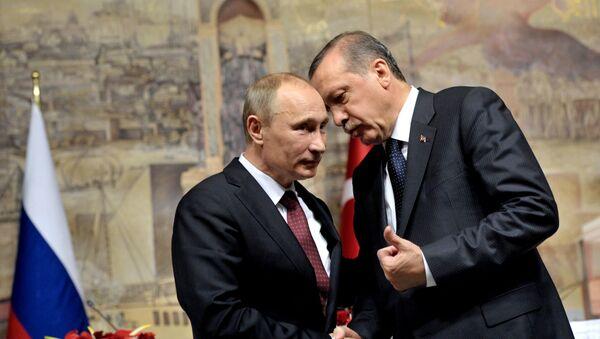 Russlands Präsident Wladimir Putin und der türkische Präsident Tayyip Erdogan (Archivbild) - Sputnik France