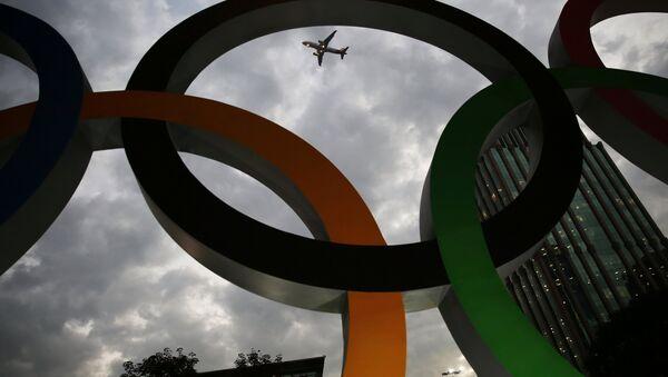 Les anneaux des Jeux Olympiques à Sao Paulo au Brésil, le 19 juillet 2016 - Sputnik France