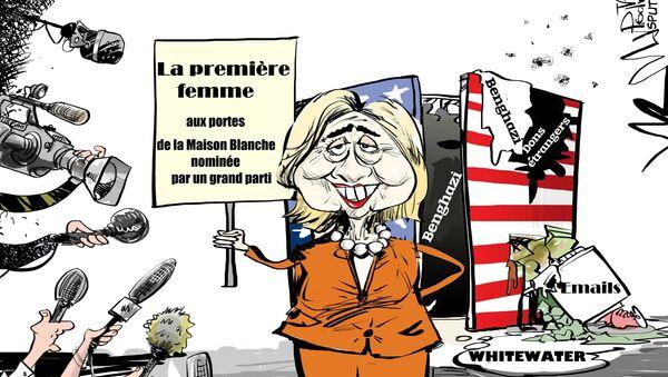 Du Whitewater aux emails: ça y est, Clinton, première femme désignée candidate! - Sputnik France