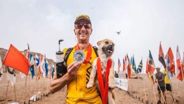 Un chien errant court 100 kilomètres avec un marathonien dans le désert de Gobi - Sputnik France
