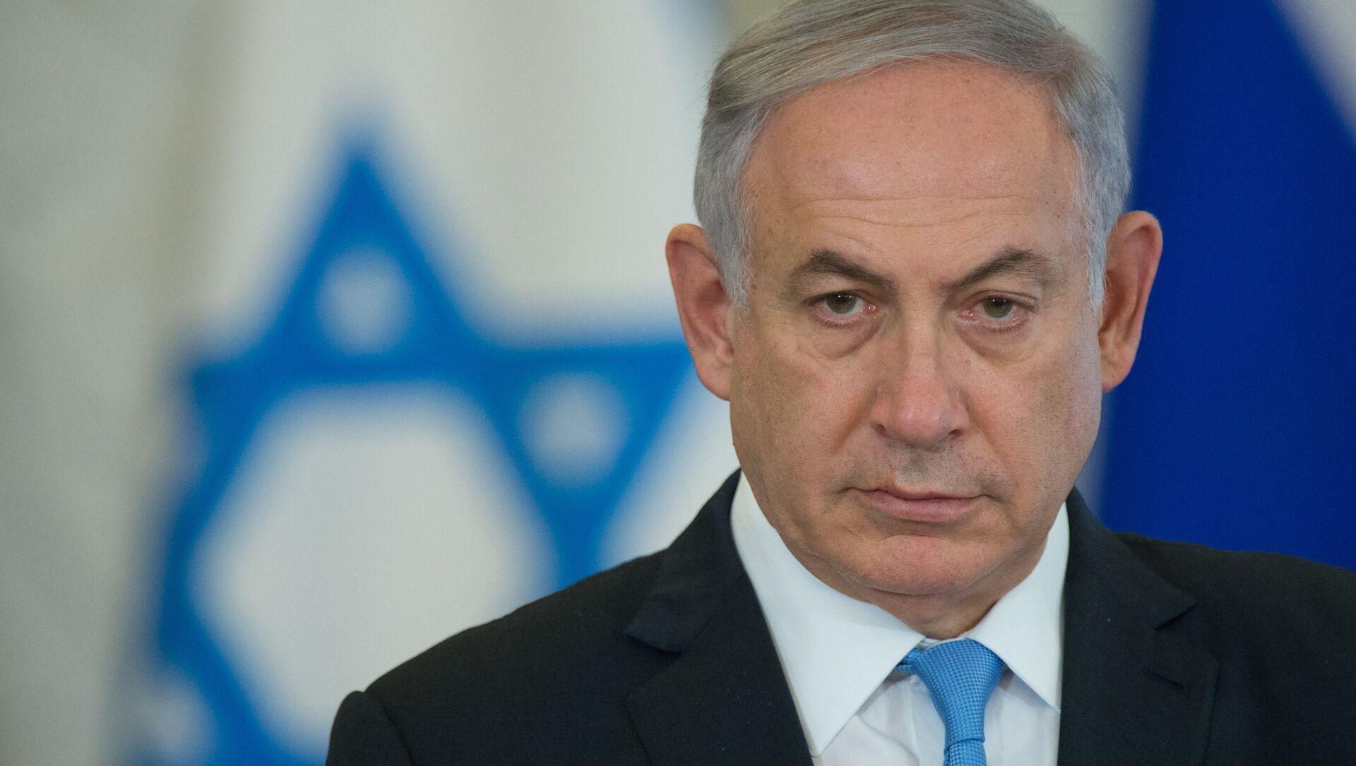7 juin 2016. Le Premier ministre israélien Benjamin Netanyahu participe à une conférence de presse conjointe avec le président russe Vladimir Poutine au Kremlin. - Sputnik France, 1920, 24.02.2021