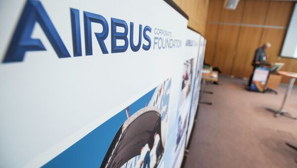 The Airbus Foundation logo at the side event - Sputnik France