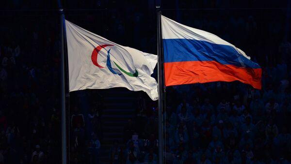 Le drapeau paralympique avec le drapeau russe - Sputnik France