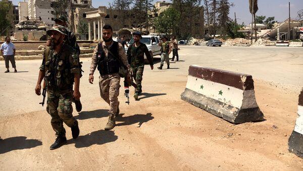 Militaires syriens à Alep - Sputnik France