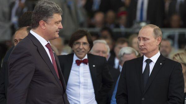 Piotr Porochenko et Vladimir Poutine - Sputnik France