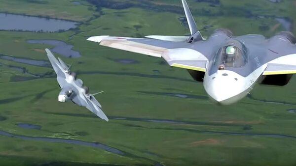 L'avion de chasse T-50 PAK FA (Futur Système Aéronautique de l'Aviation du Front). - Sputnik France
