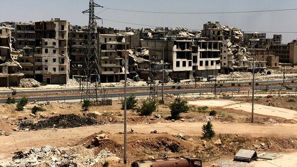 Un quartier d'Alep ruiné par la guerre - Sputnik France