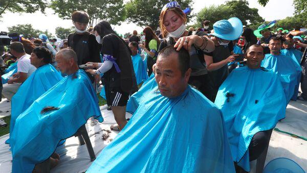Se raser la tête, une forme de protestation contre le THAAD en Corée du Sud - Sputnik France