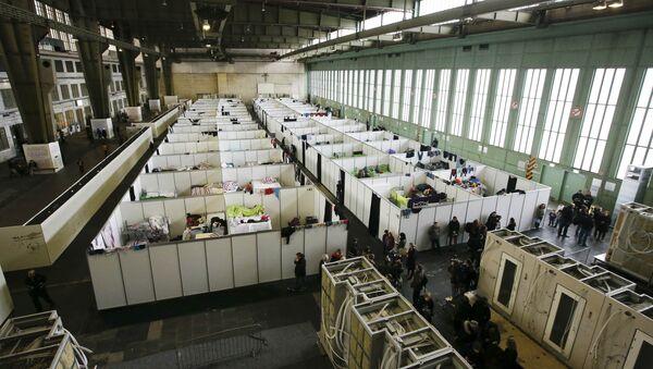 Un centre d'accueil des réfugiés à Berlin - Sputnik France