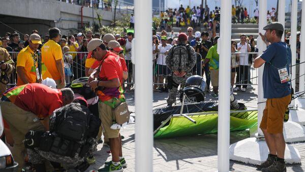La chute d'une grosse caméra officielle fait trois blessés dans le Parc olympique - Sputnik France