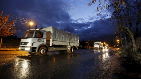 Un convoi humanitaire en Syrie - Sputnik France