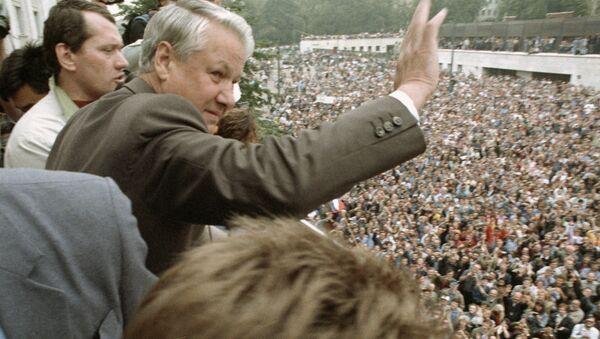 Boris Eltsine pendant un meeting en août 1991 - Sputnik France