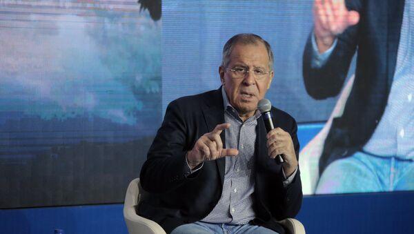 Глава МИД РФ С.Лавров посетил форум Территория смыслов - Sputnik France