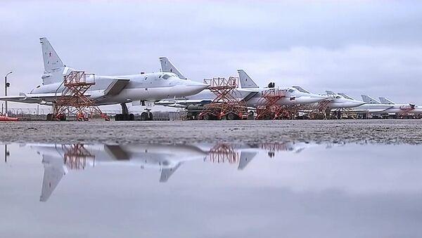 Боевой вылет дальних бомбардировщиков Ту-22М3 по объектам террористов в Сирии - Sputnik France