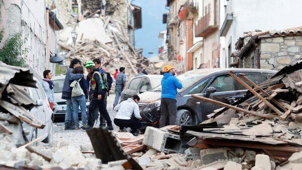 La ville italienne d'Amatrice touchée par un puissant séisme - Sputnik France