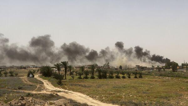 Nuage de fumée élève des positions de Daech près de Falloujah, en Irak - Sputnik France