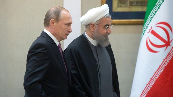 Les présidents russe et iranien Vladimir Poutine et Hassan Rohani - Sputnik France