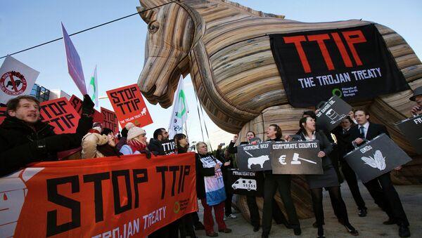 La manifestation contre le TTIP - Sputnik France