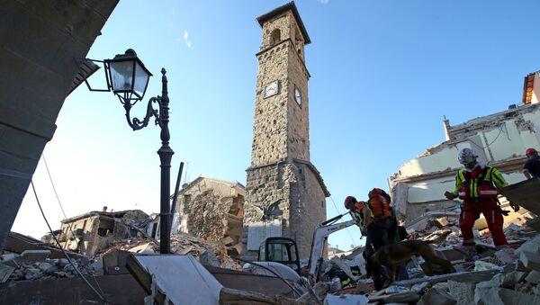 La ville italienne d'Amatrice dévastée par un séisme en août 2016 - Sputnik France