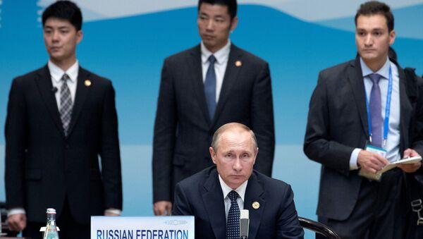Le président russe Vladimir Poutine avant le début de la cérémonie d'ouverture du Sommet du G20 à Hangzhou - Sputnik France