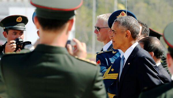 Le président américain Barack Obama arrive à l'aéroport international de Hangzhou Xiaoshan à Hangzhou - Sputnik France