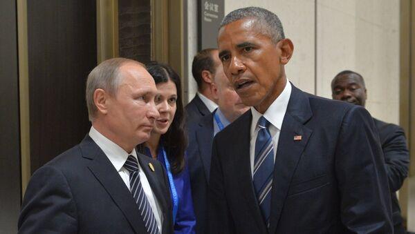 Le président russe Vladimir Poutine et le président américain Barack Obama lors d'une réunion à Hangzhou - Sputnik France