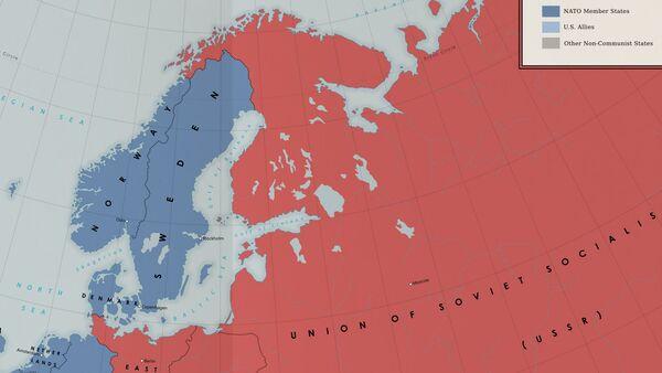 une carte fictive illustrant une version alternative de la guerre froide dans les années 1960 - Sputnik France